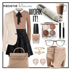 """""""Work it"""" by poopsie-plopsie ❤ liked on Polyvore featuring Claudie Pierlot, Kate Spade, Chantecaille, Gucci, Chicwish, Joseph, Alexander Wang, Accessorize, Kristin Cavallari and OPI"""