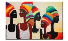 Ve cuadro Turbantes de colores  y otras decoraciones en la galería bimago - cuadros pintados a mano, trípticos, reproducciones y impresiones en lienzo.