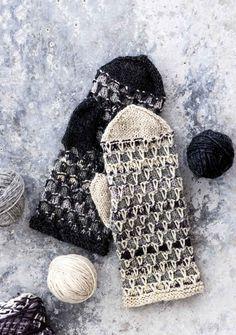 Lapaset jämälangasta / Miitens from coarse yarn Knitted Mittens Pattern, Knitted Gloves, Knitting Socks, Free Knitting, Knitting Patterns, Knit Crochet, Crochet Hats, Fingerless Mittens, Tricot