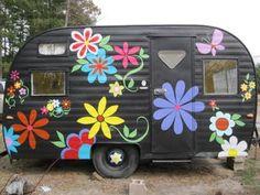 Vintage camper turned store...LOVE