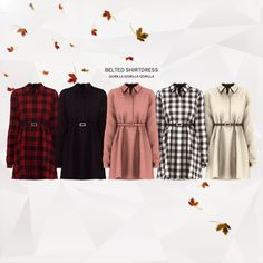 Belted Shirtdress for The Sims 4
