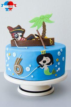 NOS CRÉATIONS - Pirate & Sirène - CAKE RÉVOL - Cake Design - Nantes