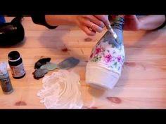 Видео мастер-класс: декор бутылки для начинающих - Ярмарка Мастеров - ручная работа, handmade