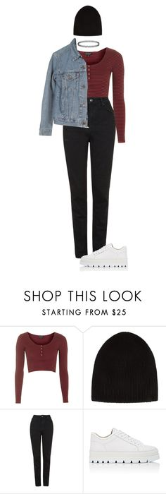 """""""We're the ones breaking down"""" by pageslearntothink on Polyvore featuring Topshop, rag & bone, Levi's and MM6 Maison Margiela"""