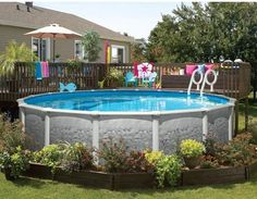 above ground pool off back deck