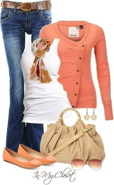 Casual Outfit With an elegant combination of beautiful blue jeans with nice brown belt, stylish white tank top, adorable handbag, stunning flat shoes and beautiful earrings. Mode Outfits, Winter Outfits, Casual Outfits, Fashion Outfits, Womens Fashion, Fashion Trends, Fashionista Trends, Casual Wear, Fashion Ideas