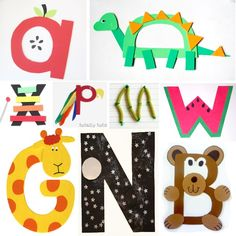 a LETTER-A-WEEK collection - 26 alphabet letter crafts for kids