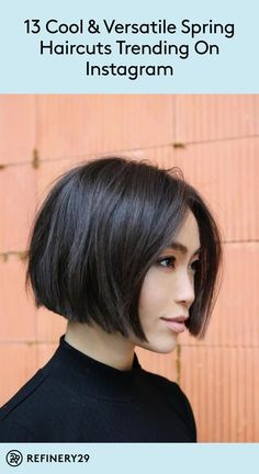 9 trendy haircuts to inspire your pre-Spring chop 9 trendy haircuts to inspire your pre-Spring chop,Hair Ready for a new look? Check out these trendy haircuts for fresh ideas. beauty inspiration for thin hair bob haircuts bob hairstyles Bob Style Haircuts, Bob Hairstyles For Fine Hair, Spring Hairstyles, Hairstyles Haircuts, Asian Bob Haircut, Short Trendy Haircuts, Chin Length Haircuts, Teenage Hairstyles, Lob Haircut