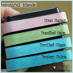 Distress inks | Shades of spring| www.tammytutterow.com