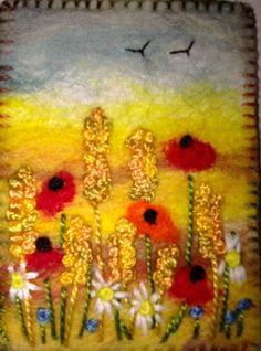 Artist's trading card - love the colors, texture!