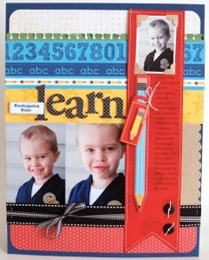 back to school scrapbooking page idea