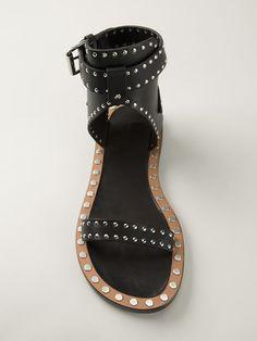 Women - Isabel Marant 'Johanna' Studded Sandals - Tessabit.com – Luxury Fashion For Men and Women: Shipping Worldwide