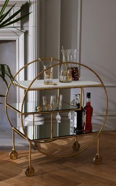 Pre-order your Luxe Round Bamboo Drinks Trolley for the beginning of April. Pre-order your Luxe Round Bamboo Drinks Trolley for the beginning of April. Küchen Design, House Design, Chair Design, Design Ideas, Bandeja Bar, Bar Deco, Bar Trolley, Bar Carts, Vintage Drinks Trolley