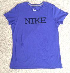 Womens(2XL/XXL,slim-fit) NIKE T-SHIRT Purple/Black Ladies Top 100%Cotton EUC!!! #Nike #GraphicTee