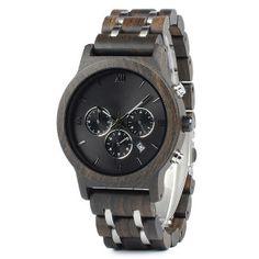 Dřevěné hodinky - Element
