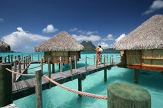 Bora Bora Pearl Beach Resort & Spa is a Luxury hotel in Tahiti. With one of the best views of the Mt Otemanu. Bora Bora Honeymoon Packages, Honeymoon Destinations, Overwater Bungalows, Beach Bungalows, Best Resorts, Hotels And Resorts, Bungalow On The Beach, Pearl Beach Resort, Bora Bora Island