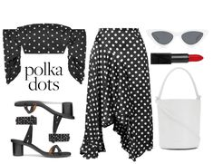 Discover outfit ideas for Spring Trend: Polka Dots made with the shoplook outfit maker. How to wear ideas for Audacious Lipstick - Annabella and x Adam Selman The Kpop Fashion Outfits, Club Outfits, Sexy Outfits, Shin Min Ah Fashion, Polyvore Outfits, Polyvore Fashion, Cocktail Party Outfit, White Sunglasses, Casual Cosplay