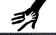 New vector clipart Vector helping hands: caring hand logo, parent and baby hand, Happy Fathers day with two hands, hands design over white, logo, help, caring, warmly, reliable.. More Free Vector Graphics, www.123freevectors.com