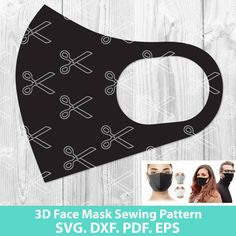 Sewing Patterns Free, Free Sewing, Free Pattern, Pattern Sewing, Easy Face Masks, Diy Face Mask, Neoprene Face Mask, Mask Template, Techniques Couture