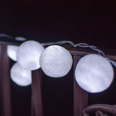 Add a whimsical quality to your wedding or outdoor fête with these Cotton Ball LED Lights. A perfect choice for indoor gatherings and outdoor parties. http://dotandbo.com/collections/glamping-in-the-lone-star-state?utm_source=pinterest&utm_medium=organic&db_sku=DBI9097