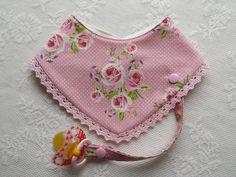 """Halstücher - Halstuch mit Schnullerband, """"edel, festlich"""" - ein Designerstück von Lisa-Toews bei DaWanda"""