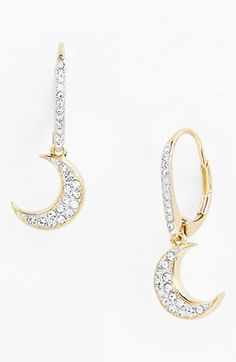 """Nadri 'Charmers' Pavé Symbol Drop Earrings (Nordstrom Exclusive) available at #Nordstrom """"crescent"""" great for Gamma Phi Beta"""