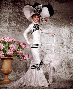 My Fair Lady Audrey Hepburn as Eliza Doolittle, by Cecil Beaton Costume design: Cecil Beaton and Michael Neuwirth My Fair Lady, Eliza Doolittle, Vintage Outfits, Vintage Fashion, Vintage Clothing, Audrey Hepburn Photos, Cecil Beaton, Vintage Mode, Movie Costumes