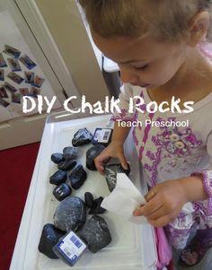 DIY Chalk Rocks by Teach Preschool