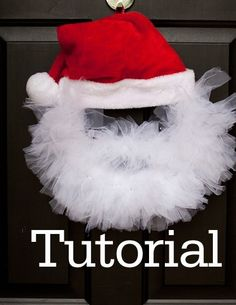Santa clause wreath