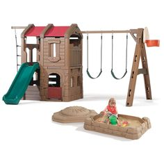 Adventure Lodge Play Center and Sandbox Combo by Step2 is one of most popular Swing Sets products for children. View and shop now