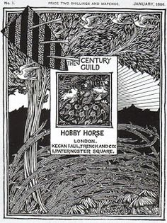 Title page to the Century guild Hobby Horse, Selwyn image, 1884