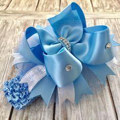 58 single loop blue turquoise pink lace Mo/'s USA Dog hair Bows Yorkie Maltese Shih Tzu bow+