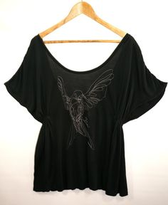 Black Embroidered Bird Oversized Top UK 10 #fashion #shopmycloset #tedbaker