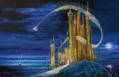 Tinkerbell - Gold Castle by by Peter Ellenshaw & Harrison Ellenshaw