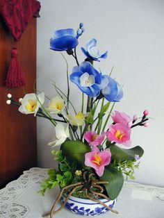 Handmade Nylon Flower Arrangement by LiYunFlora on Etsy, $30.00