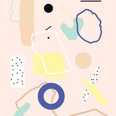 〰 Jiehaa! Abstracte pastel art print op A3 formaat door #studioemmaodenkirchen! 〰#artprint #print #pattern #pastel #abstract #colourful #geometric #shapes #design #art http://www.etsy.com/nl/shop/emmaodenkirchen #etsy