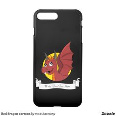 Red dragon cartoon iPhone 7 plus case