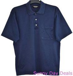 Yves Saint Laurent YSL Shirt Polo Baumwolle Cotton Short Sleeve Blue Pocket L  #YSLYvesSaintLaurent #PoloRugby
