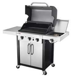 Lowe's calls this 2015 exclusive model The Char-Broil Commercial Stainless/Black 3-Burner