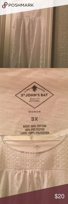 Plus size white shirt Cute white shirt. St. John's Bay Tops