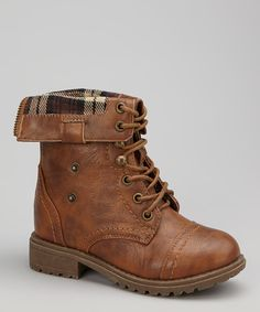 Take a look at this Brown Chess Foldover Boot on zulily today!