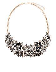Starlet Floral Bib Necklace