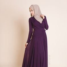 INAYAH | Mink Georgette #Hijab + Ella Evening #Gown  www.inayahcollection.com