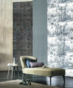 """Our Pierre Frey """"Pampa"""" wallpaper in the may issue of Marie Claire Maison Italia - 2016 #jungle #wallpaper #print #decor"""
