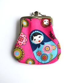 Double purse pink matryoshka by lotteriina on Etsy,