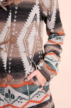 fun sweaters. Indian blanket coat #OrvisWomen