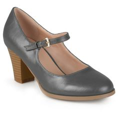 Women's Journee Collection Jamie Classic Mary Jane Pumps - Grey 6.5