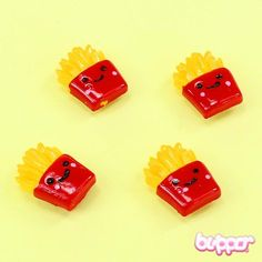 French Fries Magnets - 4pcs