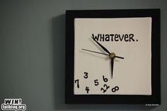 Apathetic clock