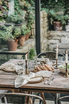 Instead of turning inwards, let's embrace those times when we can still enjoy alfresco dining, or evenings round the fire toasting marshmallows. Rustic Outdoor, Rustic Table, Outdoor Dining, A Table, Garden Picnic, Outdoor Table Settings, Al Fresco Dining, Outdoor Entertaining, Backyard